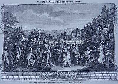 London TYBURN THE EXECUTION OF LORD FERRERS Original Print 1878