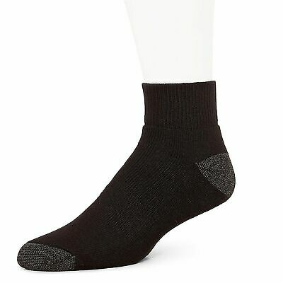 Burlington Men's 10 Pair Pack Comfort Power Quarter Top Sport Sock Black USA