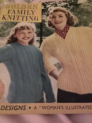 Vintage Golden Family Knitting - A Woman's Illustrated Gift Book - 1960s