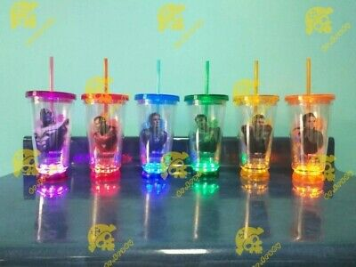 """'Avengers: Endgame"""" Peru Movie Theater Cineplanet Complete Set 6 Led Cups 2019"""