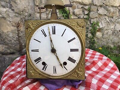 Antique french comtoise Morbier clock 19th century Wag On Wall Grandfather