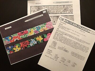 Needlepoint Belt Charts 2-Many Designs--Color photo-Chart-Instructions-Save $$!