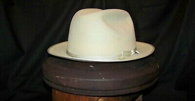 Vintage Mallory Western Style Cowboy Hat (silver belly 7 1/2)