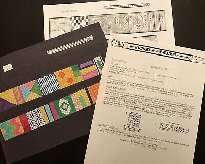 Needlepoint Belt Charts 3-Many Designs--Color photo-Chart-Instructions-Save $$!