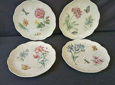 """Lenox Butterfly Meadow 11"""" Dinner Plates by Louise Le Luyer - Set of 4"""