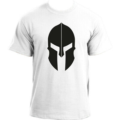 Spartan Helmet Sports T Shirt for Men - Training Top, Mens Tshirt For The Gym