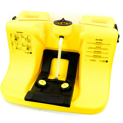 Bradley S19-921 Eye Wash Station 7-Gallon Gravity Feed Yellow