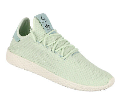 69c903528 ADIDAS Pharrell Williams Tennis HU Casual Shoes sz 9.5 Tactile Green Linen  Green