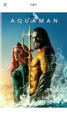 Aquaman (DVD,2018) NEW- FREE SHIPPING!!!!!! With Bonus Disc.