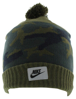92e834f3f1deaa NIKE CAMO POM BEANIE HAT 688788 677 ADULT UNISEX Red KNIT CAP $30 ...