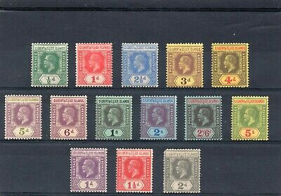 Gilbert & Ellice 1912 values to 5/- & 1922 vals SG28-30. mint hinged. Cat £106