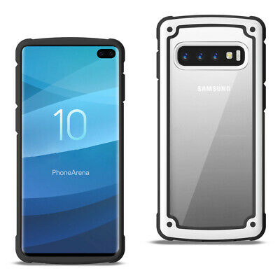 SAMSUNG GALAXY S10 Plus Heavy Duty Rugged Shockproof Full Body Case White/Clear