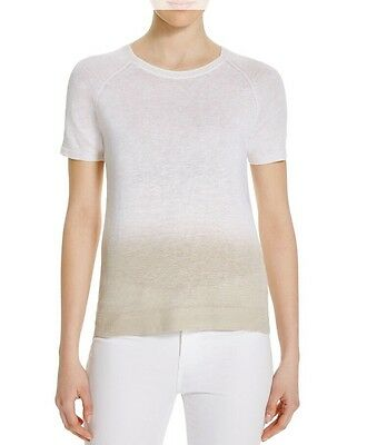 34c79c23fb $215 NWT Theory Toraely Sag Harbor Ombre Crewneck Linen Sweater Ivory  Yellow S