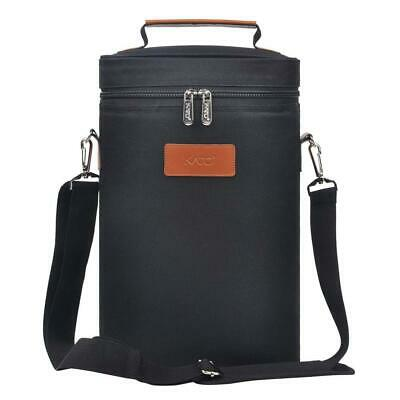 Kato Wine Cooler Bag - Padded 2 Bottle Carrier Insulated/Champagne with...