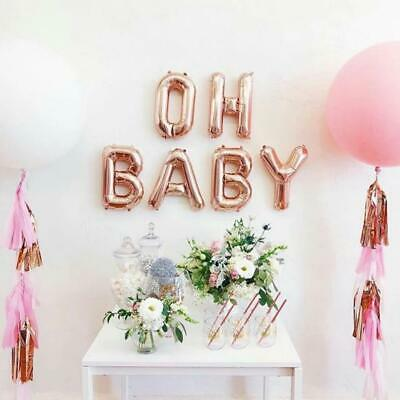 40 cm OH BABY rose gold foil balloons for Baby Shower birthday party decor AUS