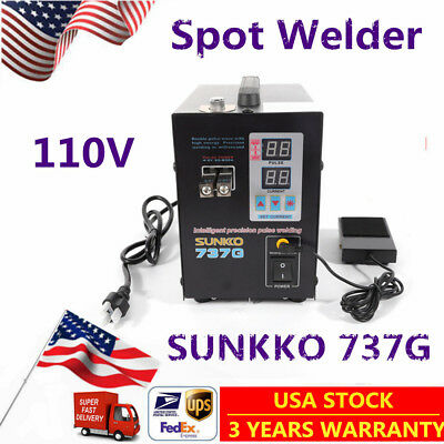 Hand Held SUNKKO 737G Battery Spot Welder Machine with Pulse&Current Display