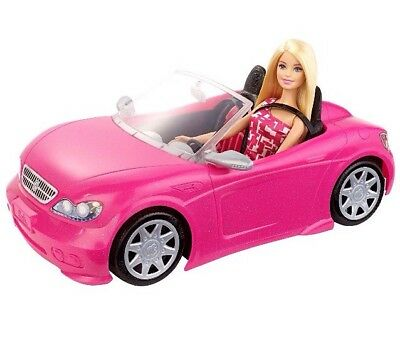 Barbie Glam Convertible And Doll  Mattel DJR55. New & Sealed!
