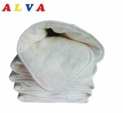 5 Layers Alva Baby Bamboo Baby Cloth Nappy Inserts Bulk Pack of 5 or 10