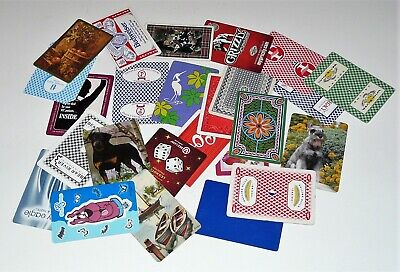 Lot of 25 Vintage ACE OF SPADES Single Swap Playing Cards - No Duplicates