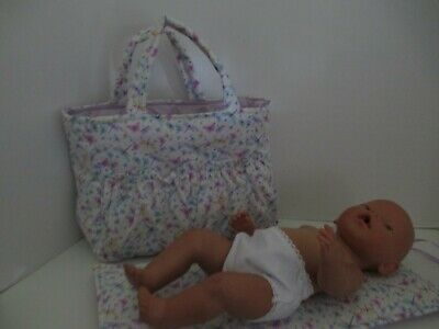"""Dolls Nappy Bag & Change pad, """" Butterfly's"""""""