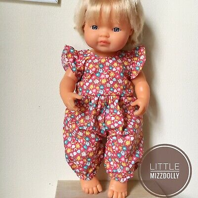 Miniland Doll Clothes Flutter Sleeves Jumpsuit