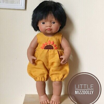 Miniland Doll Clothes Romper Sunflower Embroidery