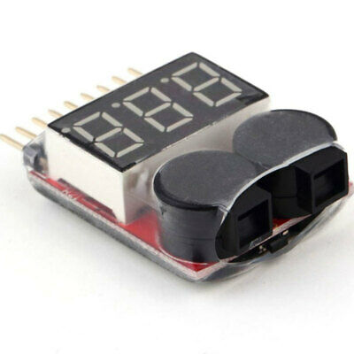 RC 1S-8S Lipo Battery Low Voltage Tester LED Buzzer Alarm Checker Deutsche Post