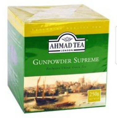 Ahmad Tea London Gunpowder Supreme Exclusive China Green Tea (Loose)   250g