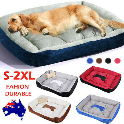 AU Extra Large Pet Bed House Mattress Dog Cat Puppy Cushion Soft Warm Kennel Mat