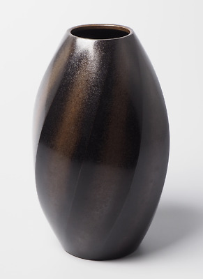 Japanese Bronze / Copper alloy Twist Ikebana Vase by Yashima Boshu