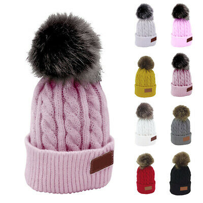 Cute Toddler Kid Girl Boy Baby Infant Winter Warm Crochet Knit Hat Beanie Cap AU
