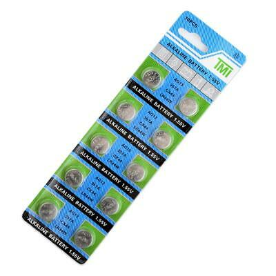 AG13 LR44 LR1154 SR44 A76 357A 303 357 Alkaline Coin Cell Button Battery 10pcs