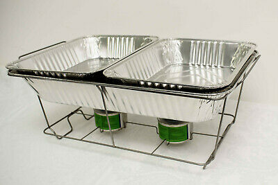 Disposable Chafing Dish Set Food Pans Catering Food Parties Events Bbqs
