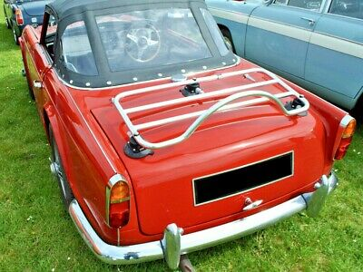 TR5 & TR4 Trunk Boot Luggage Rack ; No Clamps No Damage