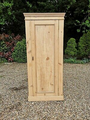 Vintage Old Antique Solid Pine Stripped Wardrobe  *FREE DELIVERY*