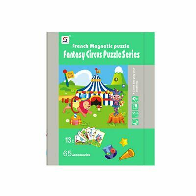 Kids Wooden Puzzle Educational Drawing Board Toy Magnetic Puzzle Drawing Board 6