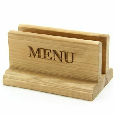SPECIAL OFFER. Menu Holder. Wooden Menu Holder. Menu. Light Oak. Pack of 10.