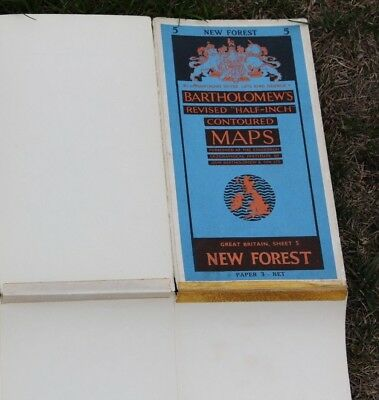 Bartholomews half inch revised contoured maps Sheet 5 New Forest 1959- paper