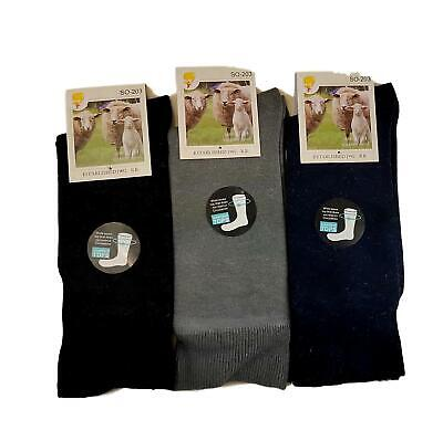 Mens Womens Merino Wool Blend Socks LOOSE TOP 11-14  Warm Thermal Heat Work