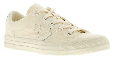CONVERSE STAR PLAYER Mens Wheat White Ox Trainers Lace Up