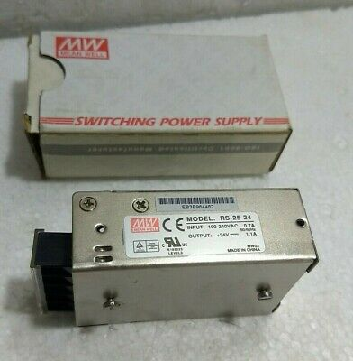 Automaten, motors, drives 100-240VAC 0.35A Professionele uitruisting NEU/OVP Mean Well MW RS 15-24 Input