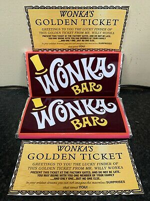 Willy Wonka Chocolate Bar Gift Novelty Item Golden Ticket