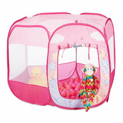 Unicorn Ball Pit with 100 Balls, Pink Pop Up Ball Pool Play Tent, In-and Outdoor