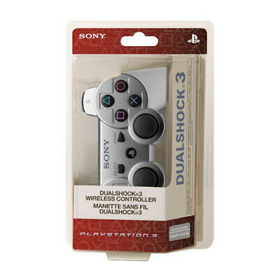 Dualshock Bluetooth PS3 Wireless Gamepad Controller Silver For Play Station 3
