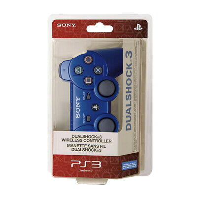 Blue PS3 Dualshock Bluetooth Wireless Gamepad Controller For Play Station 3
