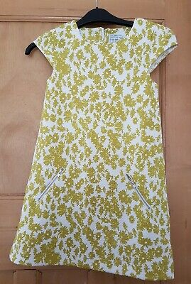 NEXT Girls Yellow Floral Dress - 8 years