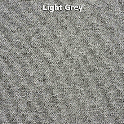Light Grey Vegas Cheap Flecked Loop Pile Carpet Felt Backed Hardwearing 4m