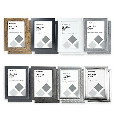 6 x 4 Photo Frames - 2 Pack, White, Grey, Silver, Gold, Black, 6x4 Picture Frame