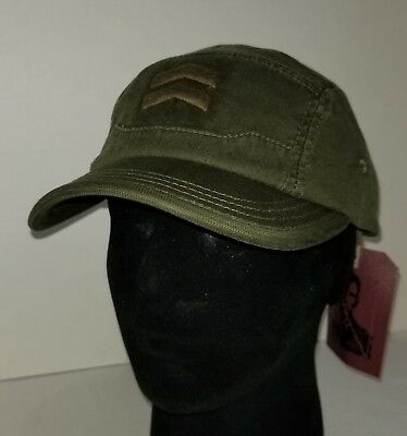 0f6c6e5e7 A. KURTZ MEN'S Chevron Camp Military Style Baseball Cap Hat Green - New
