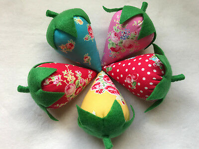 Set of 5 Strawberry Bowl Fillers/Pincushions